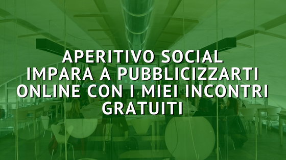 Aperitivo Social: imparare il digital marketing all'aperitivo?